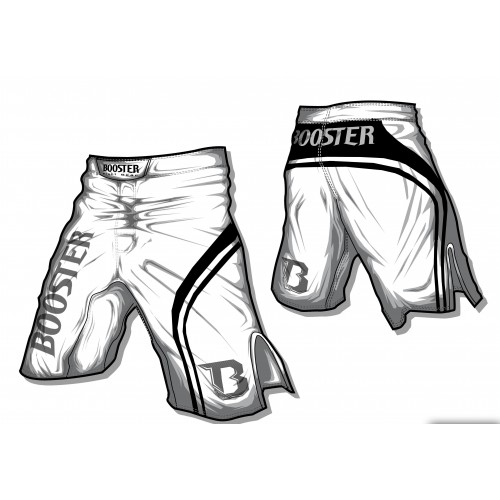 Booster MMA Short Pro Trial (wit)