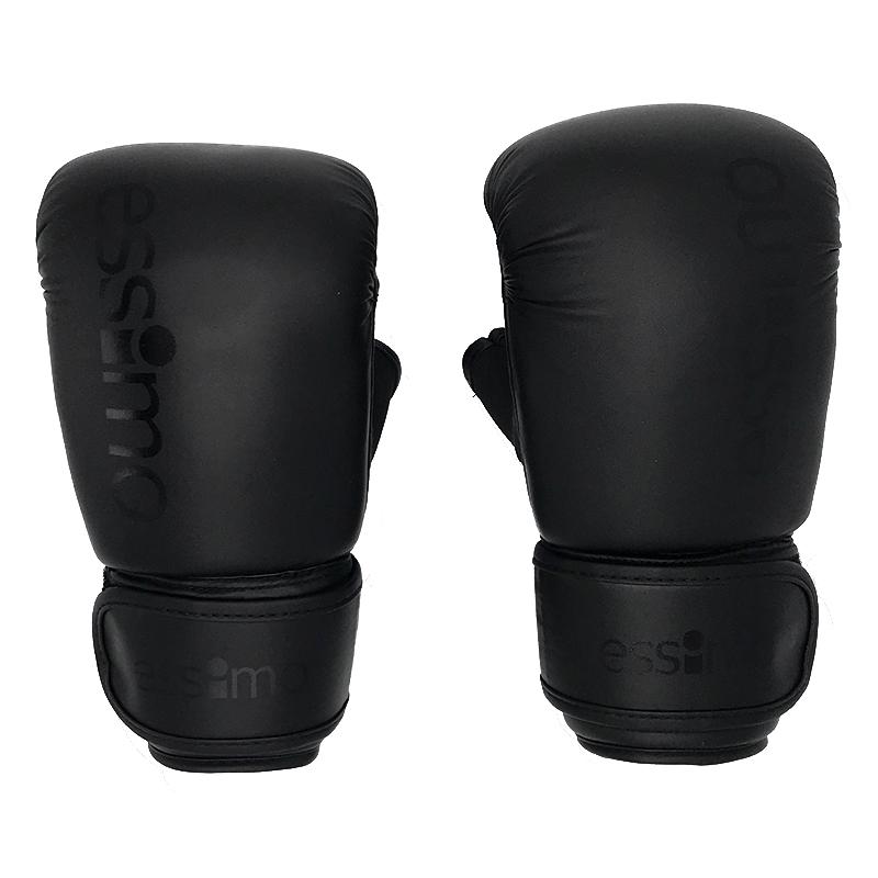 Essimo Bokszakhandschoenen PU – Zwart/Zwart