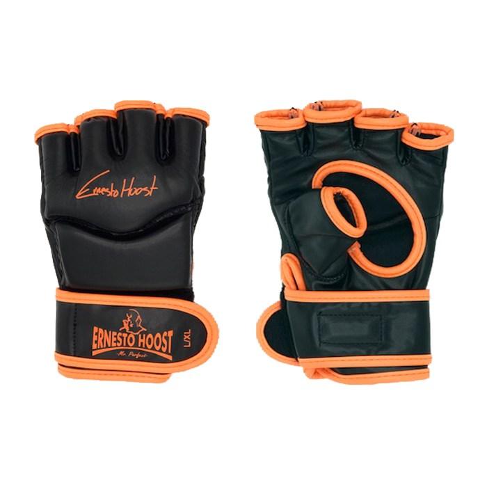 Ernesto Hoost Free Fight/MMA Handschoenen – Zwart/Neon Oranje