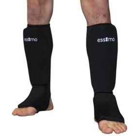 Essimo Scheen/wreef beschermer elastisch katoen zwart