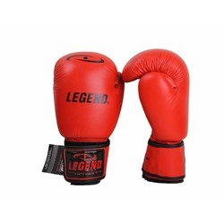 Leren Bokshandschoenen Legend Padding (rood)