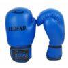 Lederen Bokshandschoenen Legend Padding (blauw)