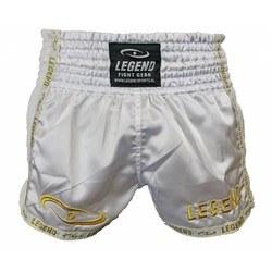 Kickboksbroekje Legend (wit / goud)