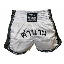 Thaiboksbroekje Legend (wit / zwart)