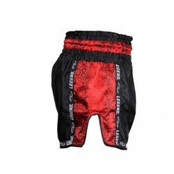 Kickboksbroekje Red Snake (zwart / rood)