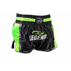 Kickboksbroekje Legend (zwart / neon groen)