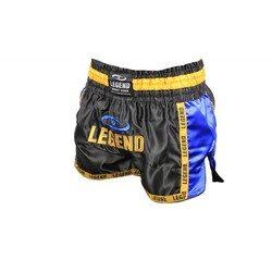 Legend Kickboksbroekje (zwart / geel / blauw)
