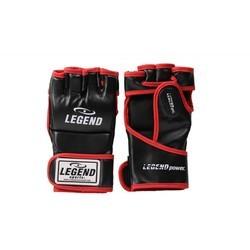 Legend Flow MMA handschoenen of Bokszak handschoenen zwart/rood