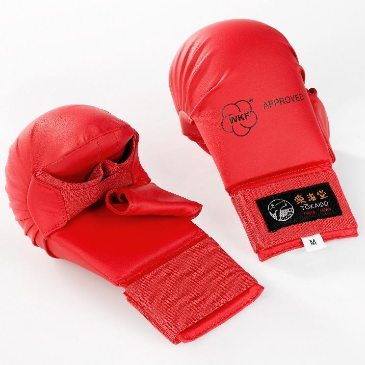 Tokaido WKF Vuistbeschermer met duim – Rood