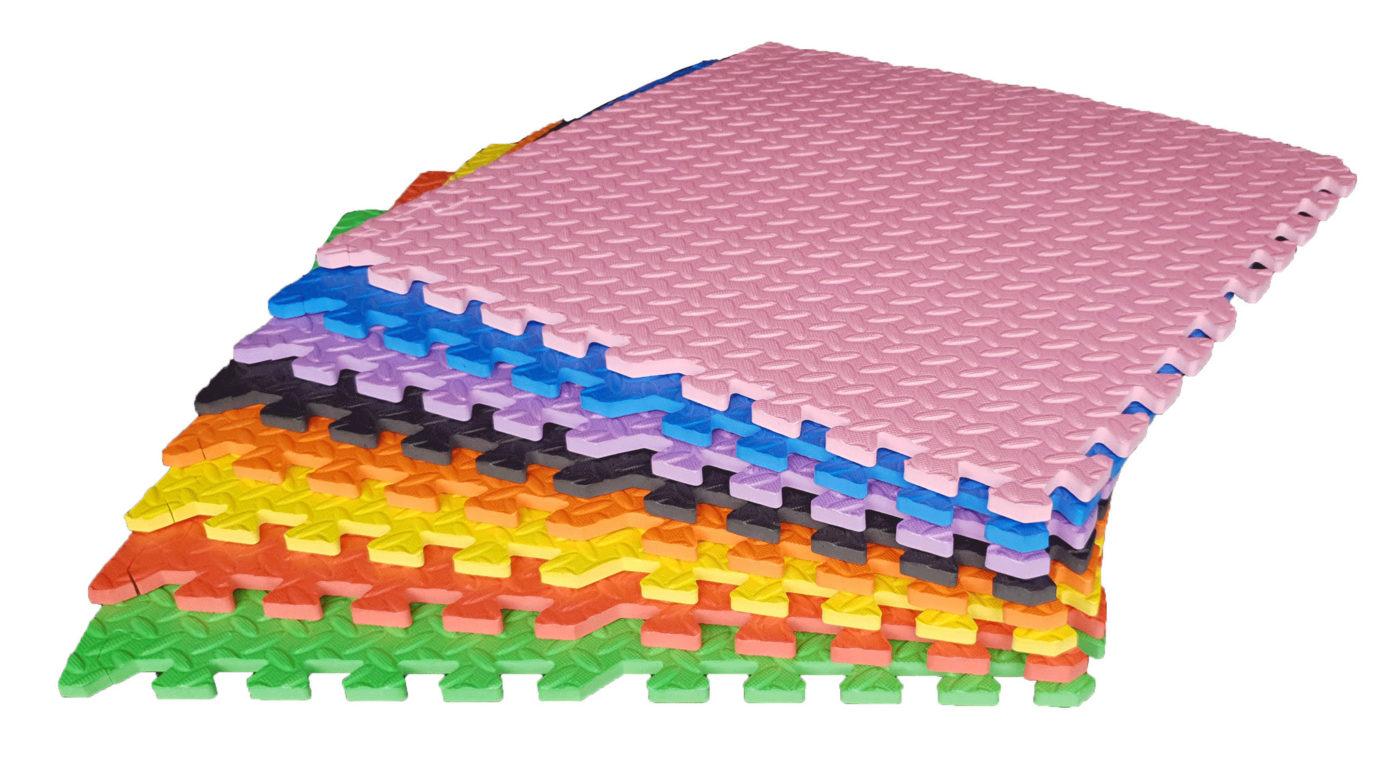 Roze puzzelmat (60 x 60 x 1.2 cm)