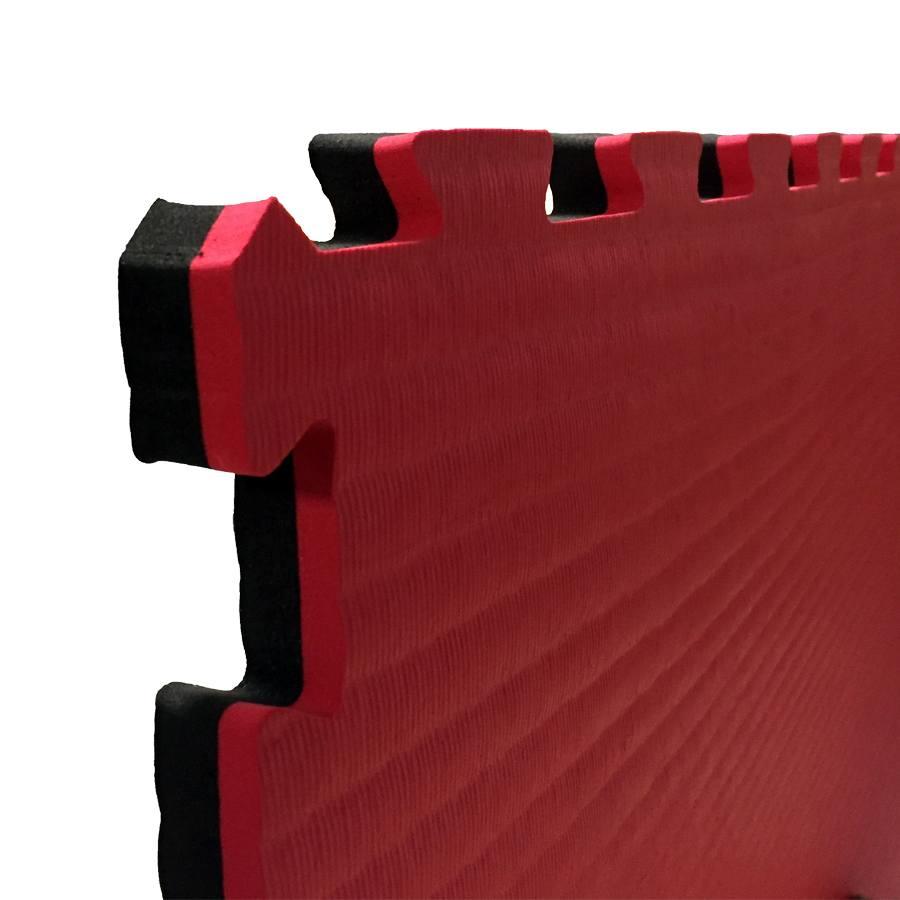 Puzzelmatten 2cm dik - Zwart/Rood (10 stuks)