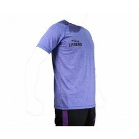 Trendy Legend DryFit sportshirt blauw/grijs melange