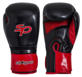 Starpro Aero Tech Fitness Boxing Glove-12oz Zwart/Rood