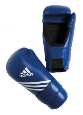 Adidas Semi Contact Gloves Blauw maat XXS