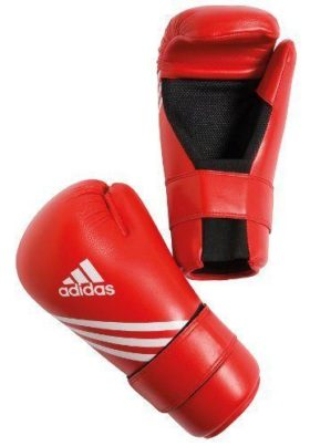 Adidas Semi Contact Gloves Rood maat S