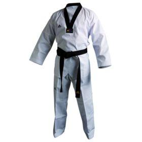 Adidas Taekwondopak Club Zwarte Revers maat 130