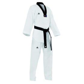 Adidas Taekwondopak Champion II Zwarte Revers maat 140