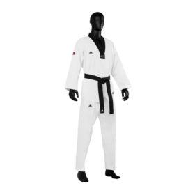Adidas Taekwondopak Champion III Zwarte Revers maat 140