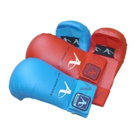 Arawaza Karate Mitt Blauw WKF maat XS