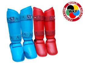 Arawaza Karate Scheenwreefbeschermers Rood WKF maat XS