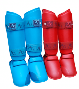Arawaza Karate Scheenwreefbeschermers Rood maat XS