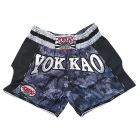 Yokkao Carbon Muay Thai Shorts Grey Army maat S