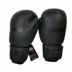 Lederen Bokshandschoenen LegendPadding mat zwart