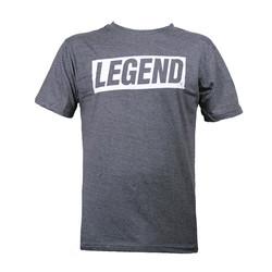 Slim-fit T-Shirt Grijs Legend power quote