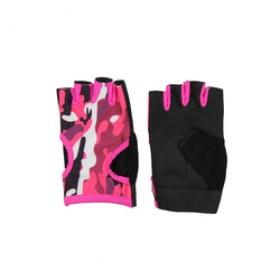 Fitness handschoenen Easy Drifit camo roze
