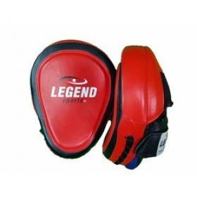 Legend Lederen Focus Pads Heavy Duty Gel Rood