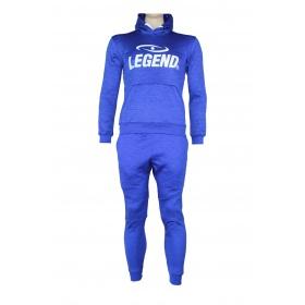 Joggingpak dames/heren met hoodie blauw