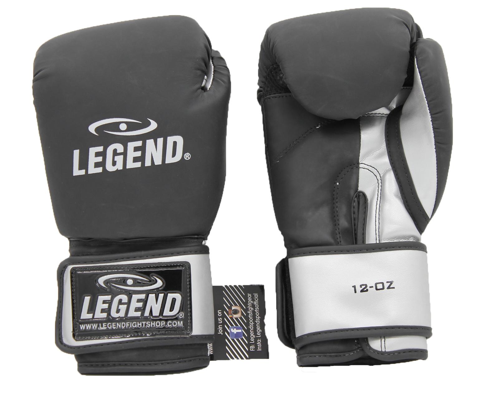 Bokshandschoenen LegendDry & Protect Mat zwart/Zilver