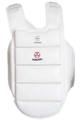 Hayashi Borstbeschermer voor kinderen WKF U-14 Wit
