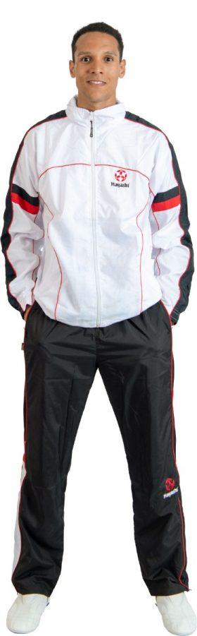 Trainingspak met zwarte broek voor kinderen Wit - rood