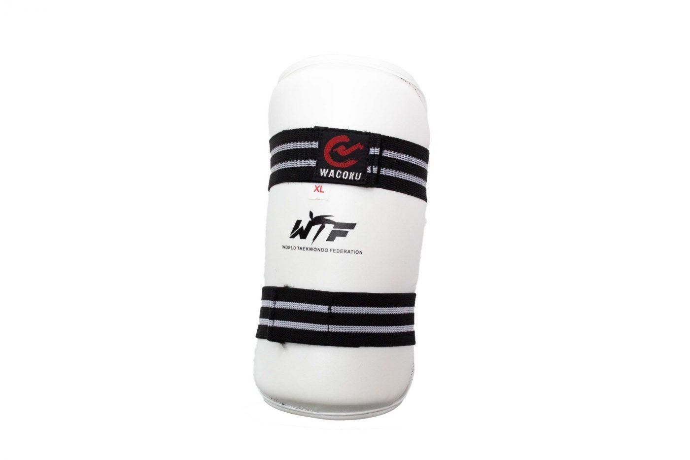 Taekwondo Onderarm beschermer (WTF approved) Wit - Zwart