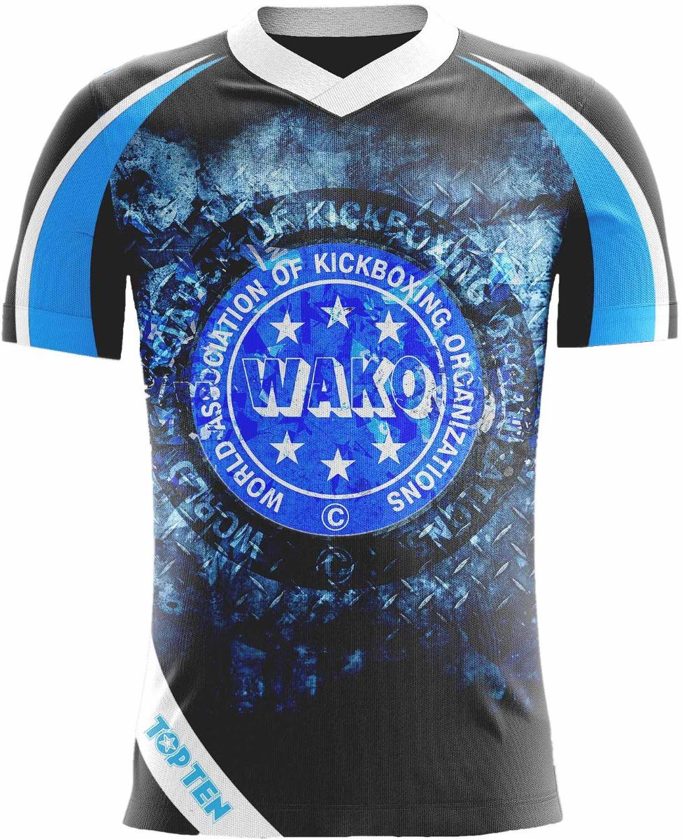 """T-Shirt """"WAKO ICE"""" Blauw - Zwart"""