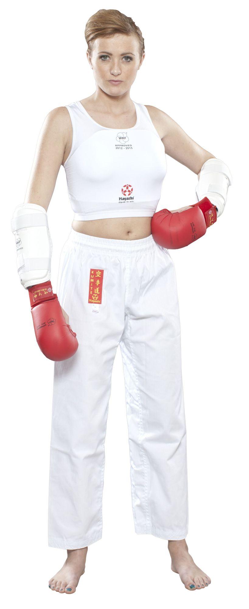 "Hayashi Borstbeschermer ""Maxi"" voor dames (WKF Approved) Wit"