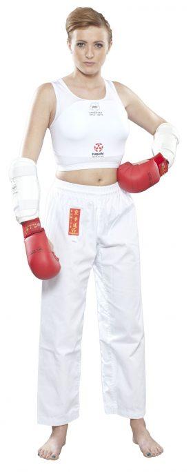"""Borstbeschermer """"Maxi"""" voor dames (WKF Approved) Wit"""