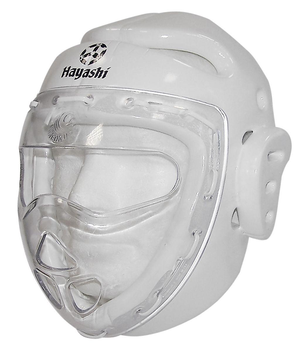 Hayashi Hoofdbeschermer met masker Wit