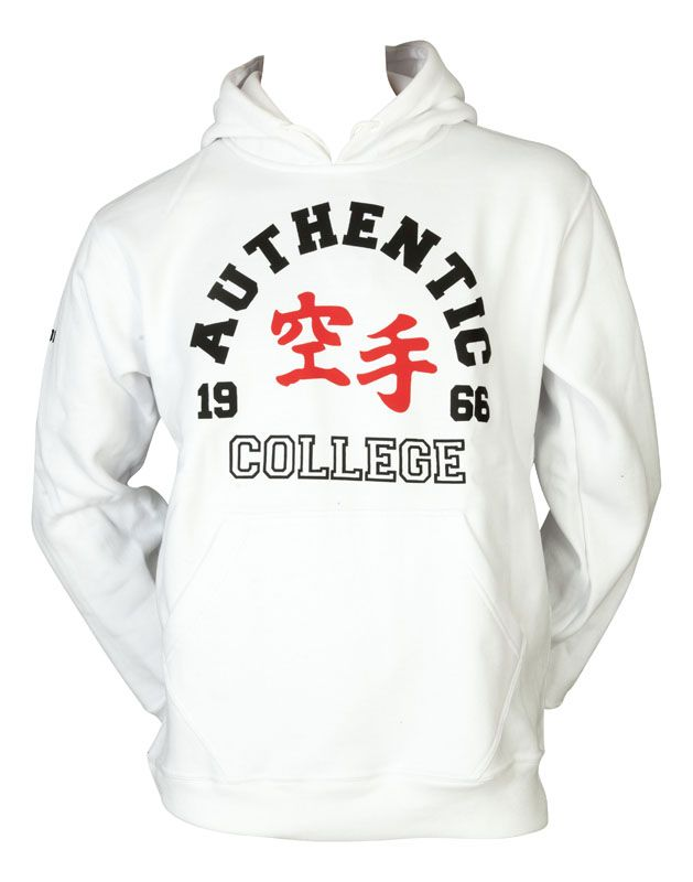 """Hoodie """"Authentic Karate College"""" Wit"""