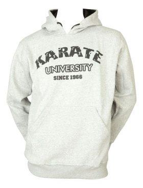 "Hoodie ""Karate University"" LightGrijs"