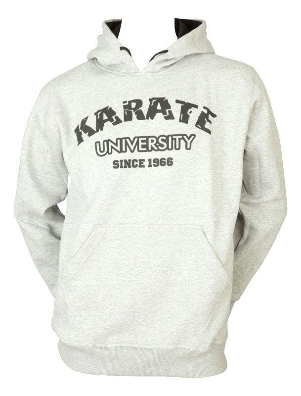 """Hayashi Hoodie """"Karate University"""" LightGrijs"""