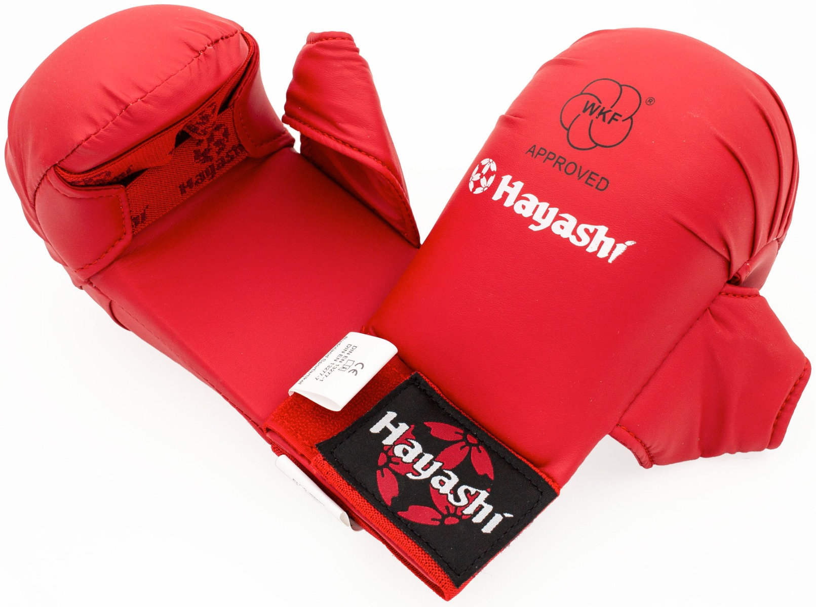 "Hayashi Karate handschoenen ""TSUKI"" met thumb (WKF approved) Rood"