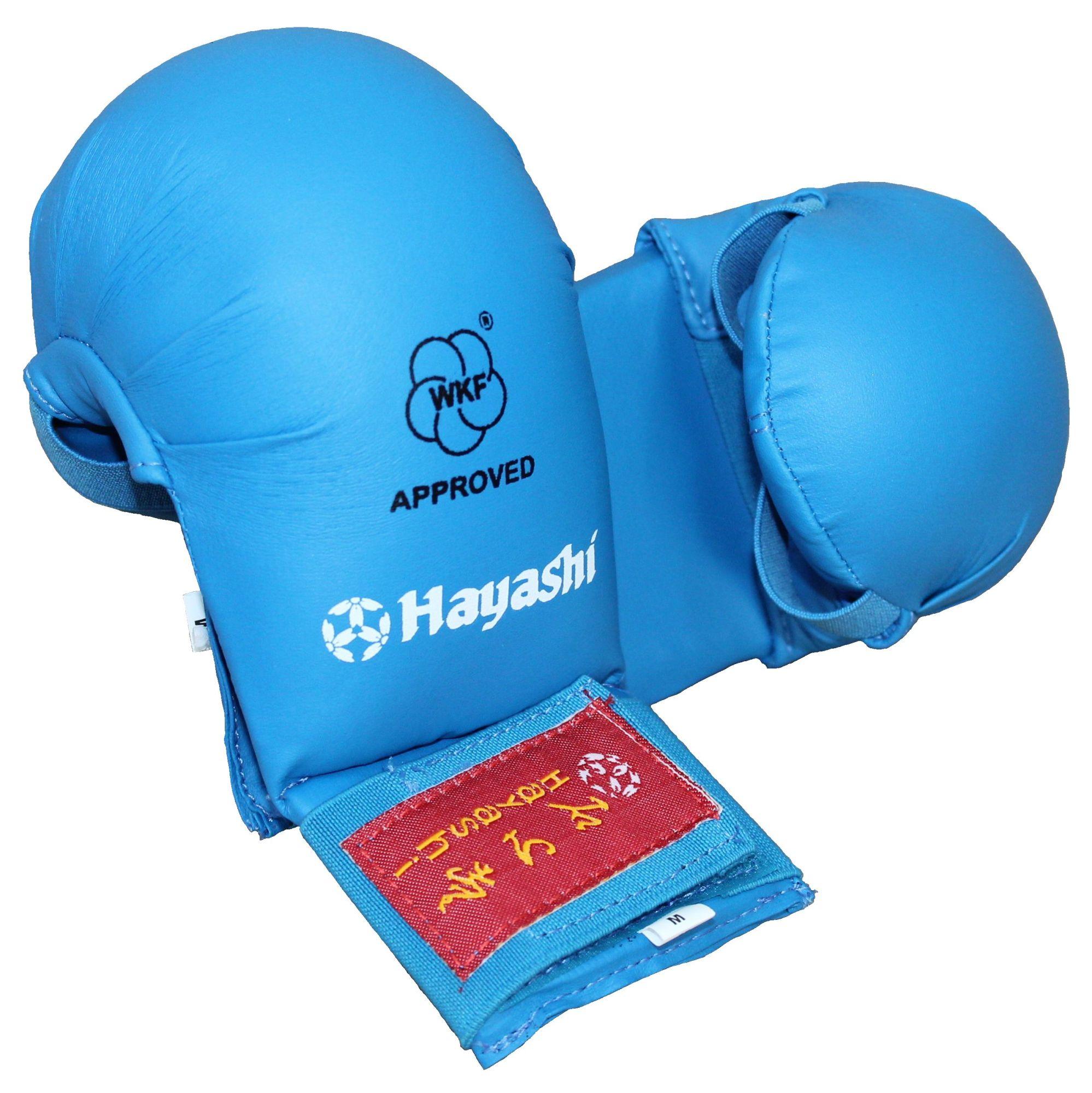 "Hayashi Karate handschoenen ""TSUKI"" (WKF approved) Blauw"