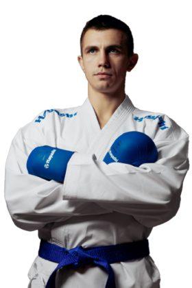 """Karatepak """"Champion Flexz"""" (WKF approved) Wit - Blauw"""
