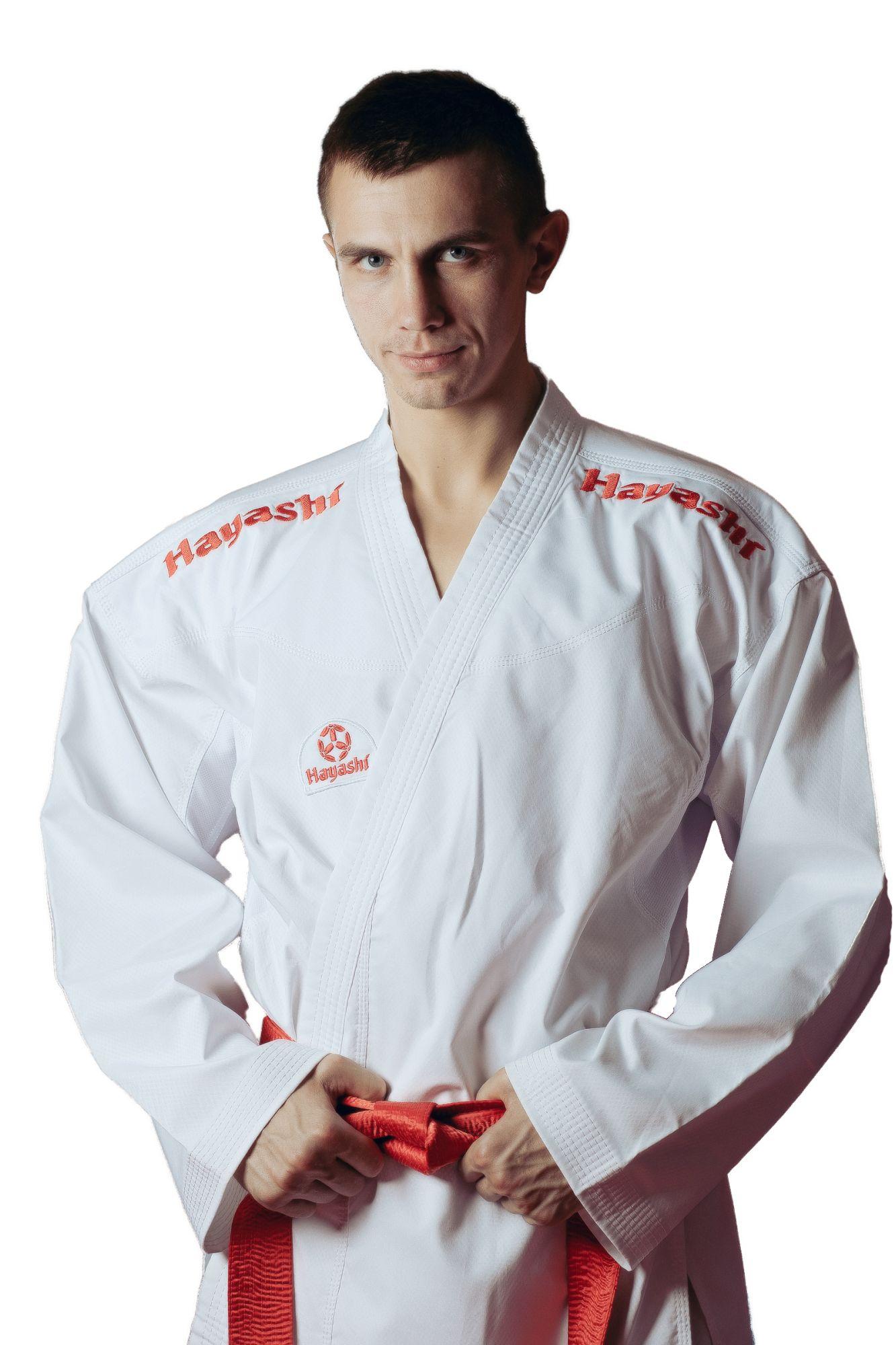 """Hayashi Karatepak """"Champion Flexz"""" (WKF approved) Wit - rood"""