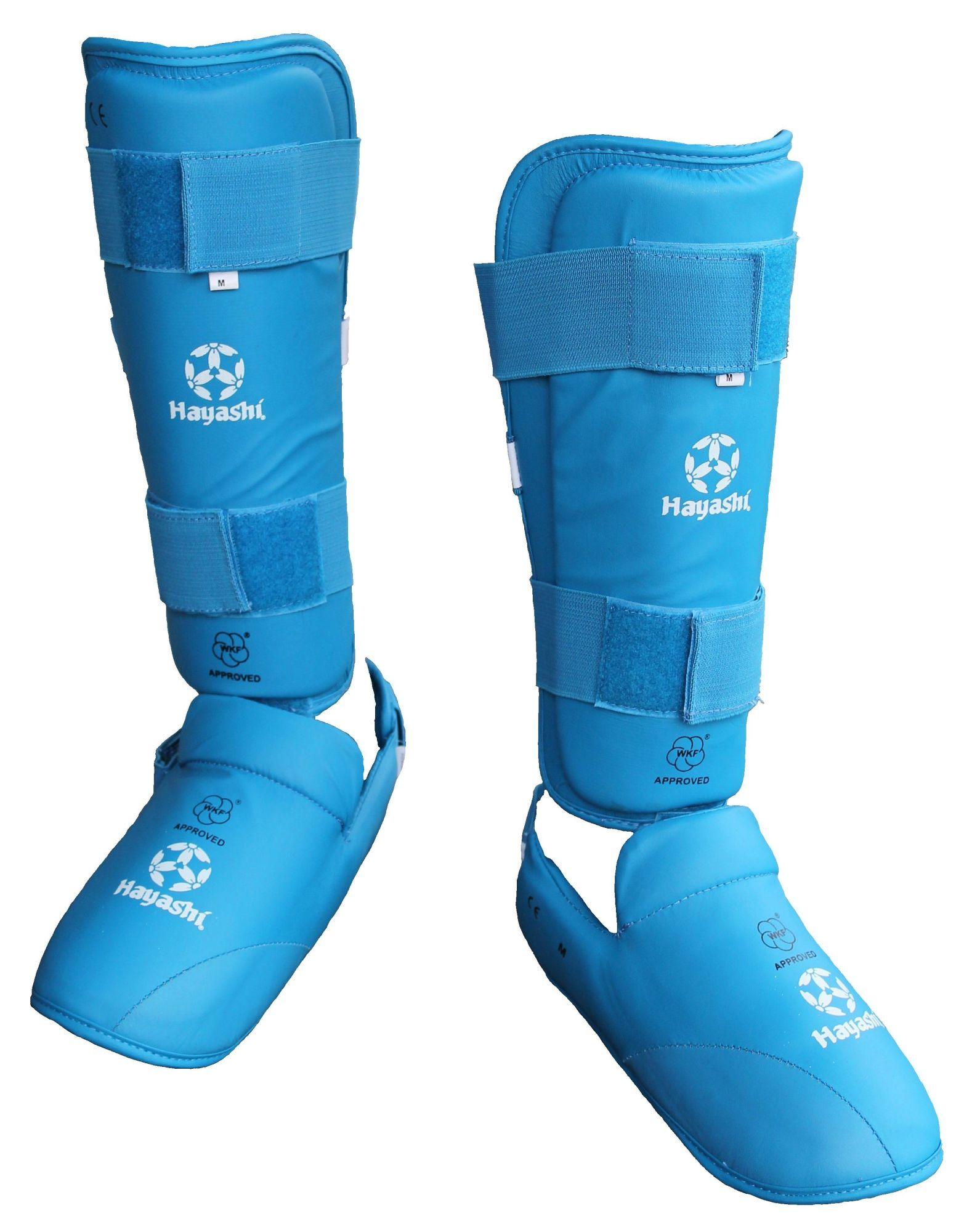 Hayashi Karate Scheen/wreefbeschermer (WKF approved) Blauw