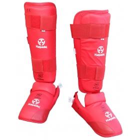 Hayashi Karate Scheen/wreefbeschermer (WKF approved) Rood