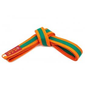 Hayashi Karateband tweekleurig Oranje - Groen