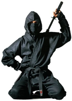 """Ninja uniform """"Kendo"""" met accessoires Zwart"""